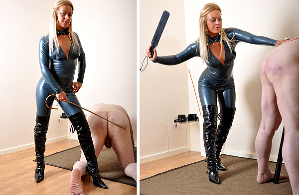 Latex Mistress Spanking