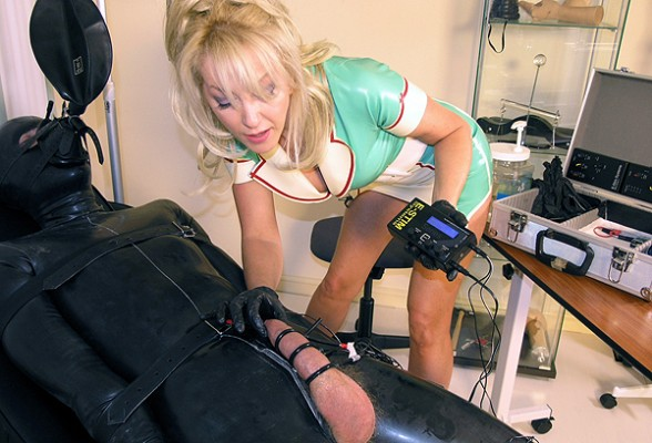 Rubber femdom slave
